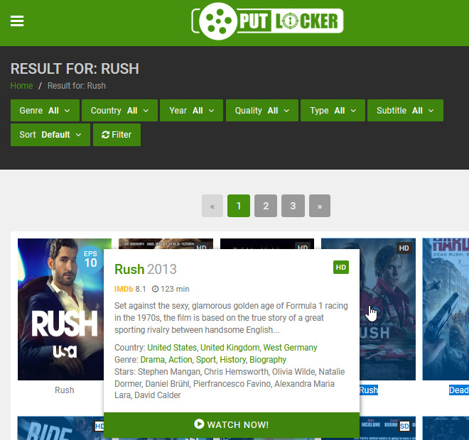 watch rush online for free
