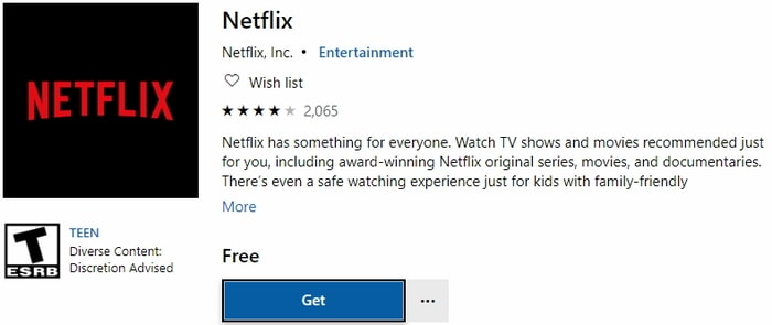 netflix install app on windows