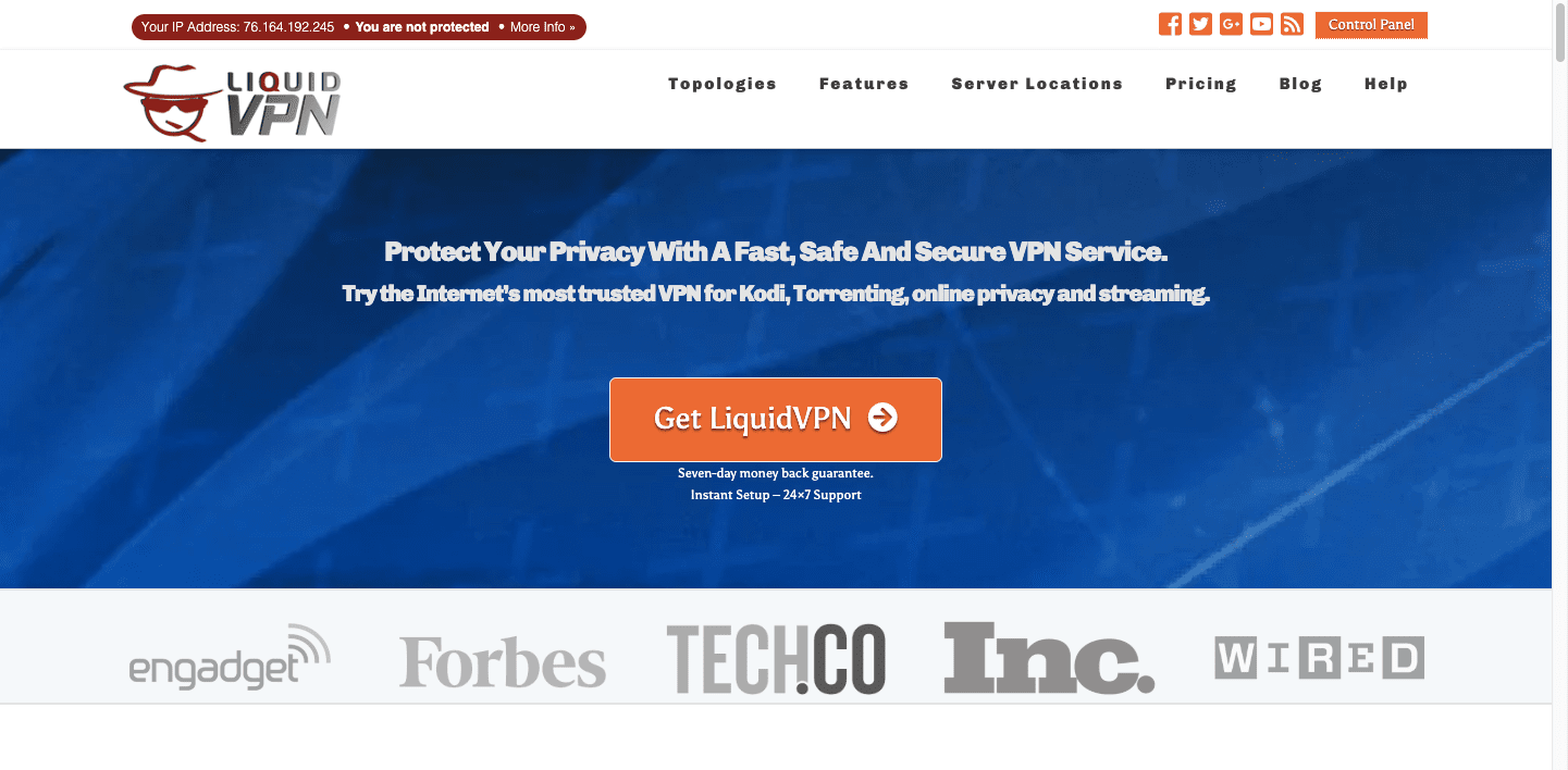 LiquidVPN-screenshot