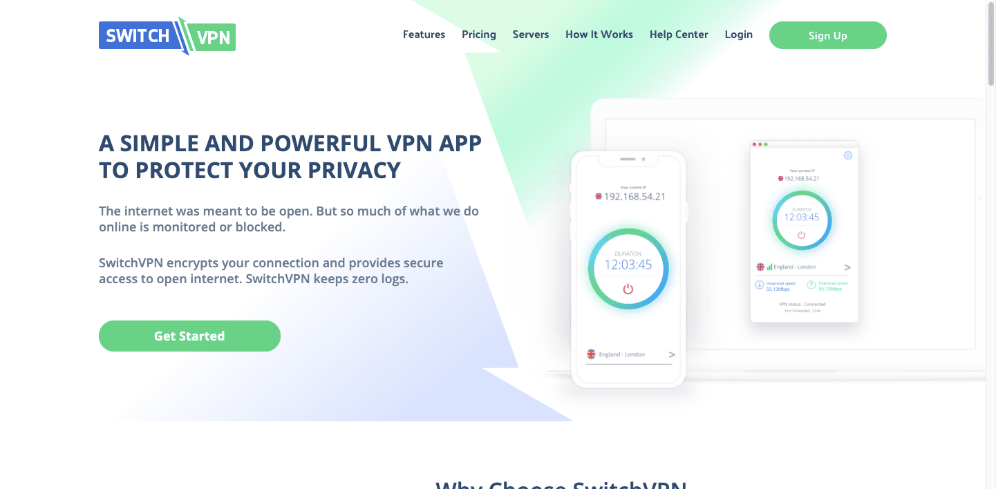 SwitchVPN-screenshot