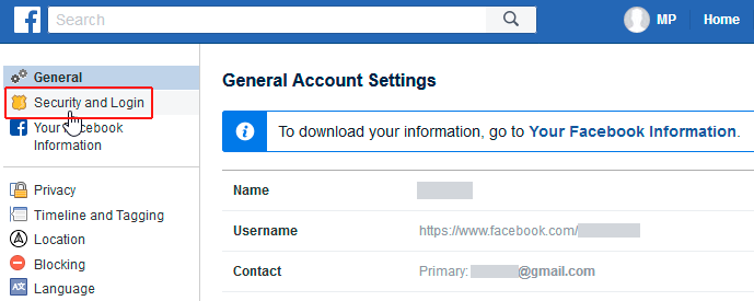 facebook account log out