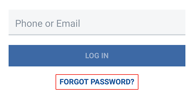 reset facebook password mob