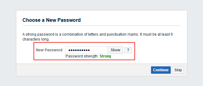reset facebook password web