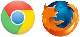 chrome & mozilla logos
