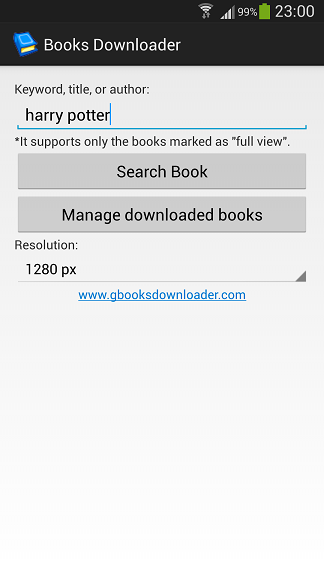 Google Books Downloader for Android