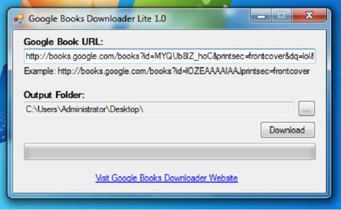 Google Books Downloader for Windows