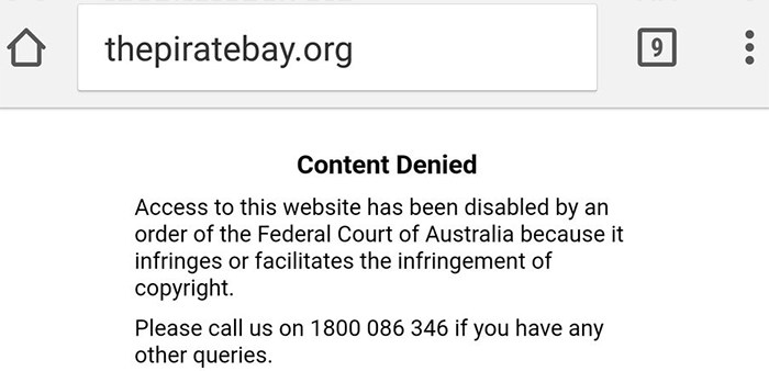 is the pirate bay down