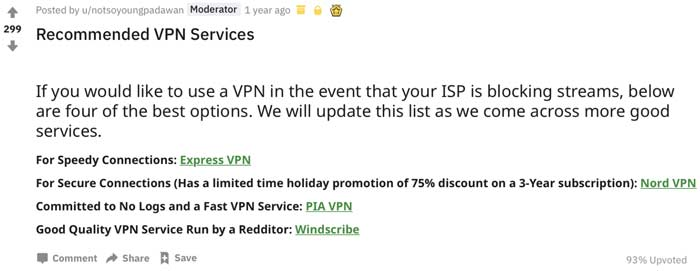 best vpn reddit