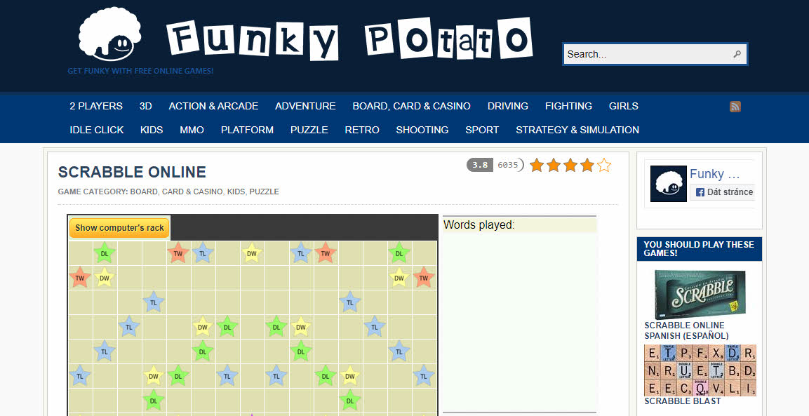 Funky Potato Scrabble