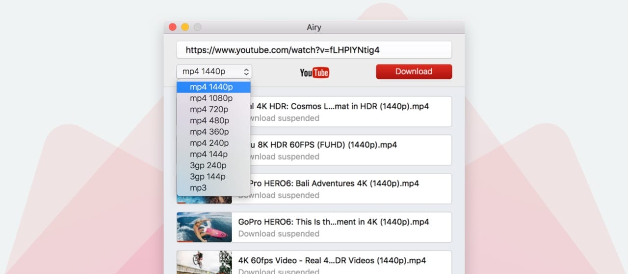 airy best youtube downloader