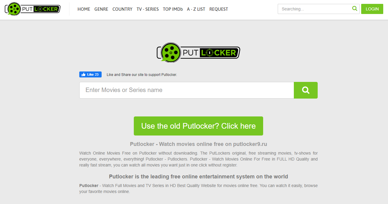 putlocker frontpage