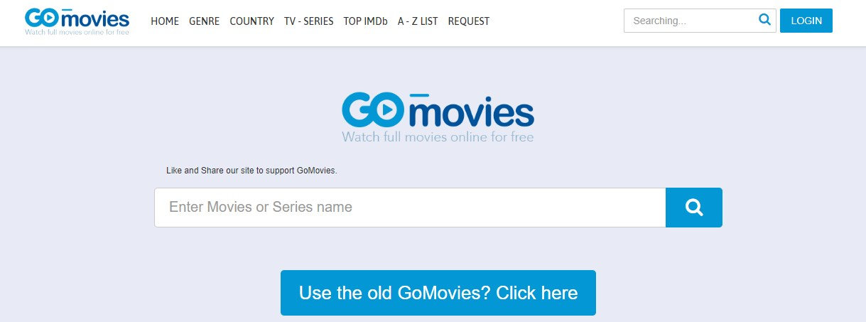 gomvies frontpage