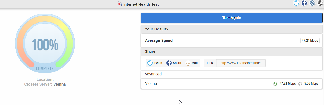 internet health test app