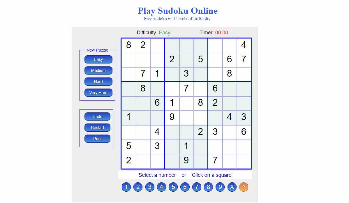 Play Soduko Online
